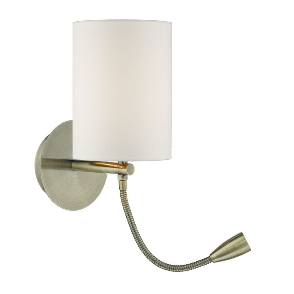 Feta 1 Light Wall Bracket With Led Antique Brass Base Only